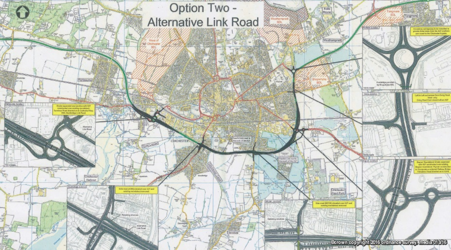 Chichester A27 Option Two Alternative Link