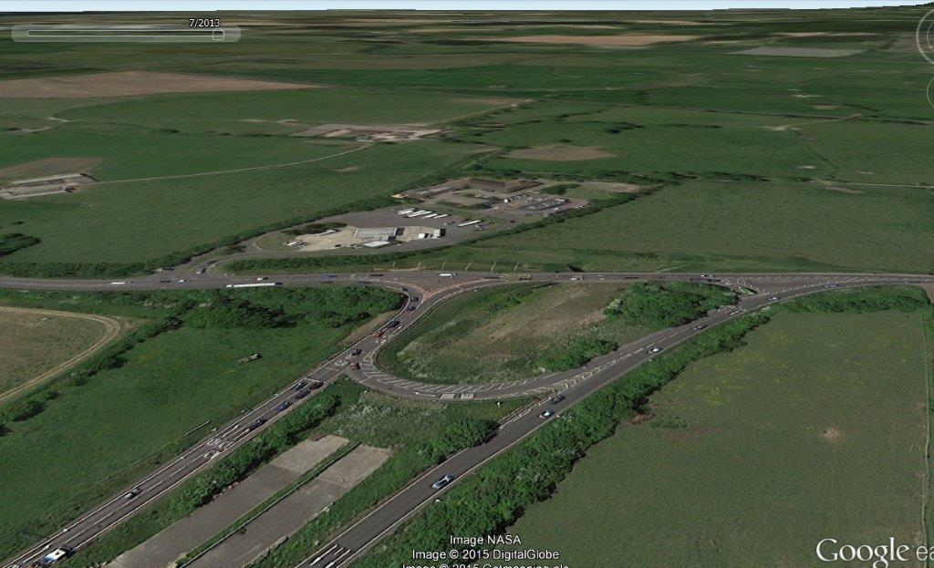 A27 Arundel Crossbush junction an ugly monument to human folly
