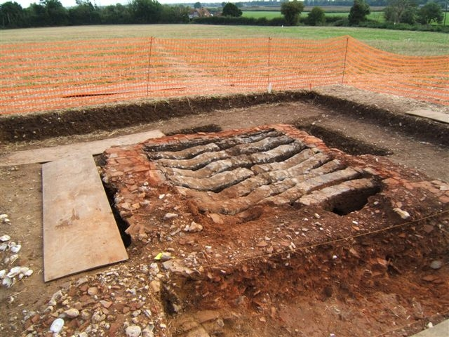 Binsted has a wealth of archaeology such as this 14th century tile kiln which could be destroyed by the Arundel Bypass Option B